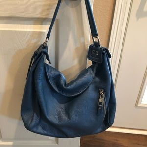 Beautiful blue Arcadia leather bag